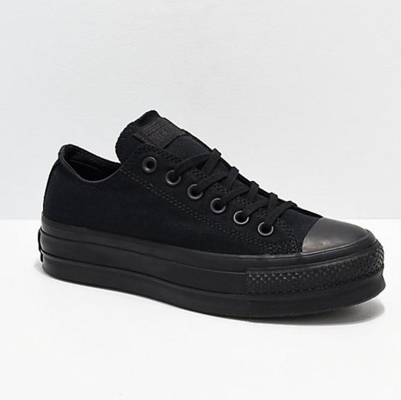 af93c0c09fb14 Converse CTAS Clean Lift Ox Black Platform Shoes